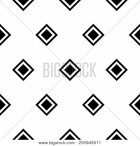 Seamless rhombus black and white pattern. Abstract geometric vector background.
