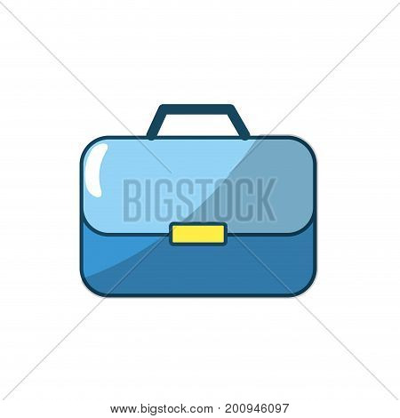 briefcase to businessman important documents pepers vector illustration