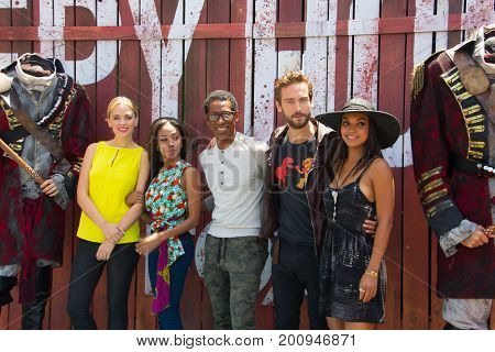 San Diego, CA - July 26, 2014:  The cast of Fox's Sleepy Hollow arrives at Comic Con 2014 in San Diego, CA.