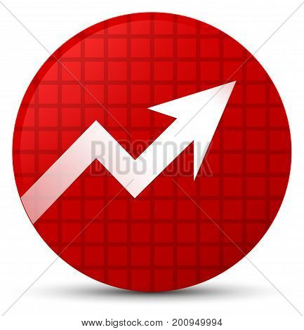 Business Graph Icon Red Round Button