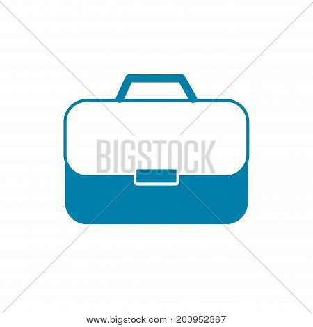 silhouette briefcase to businessman important documents pepers vector illustration