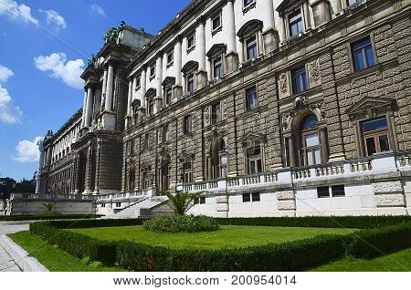 View on National Library of Hofburg Palace in Vienna, Austria.