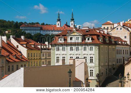 Mala Strana (Lesser Town of Prague) in Bohemia, Czech Republic