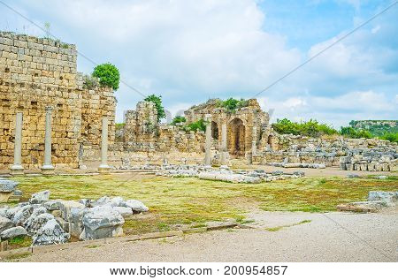 The Streets Of Ancient Perge