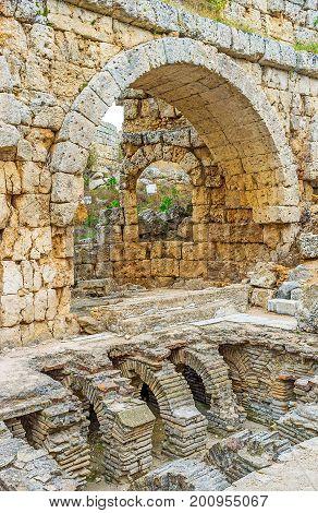 Visit Roman Baths In Perge
