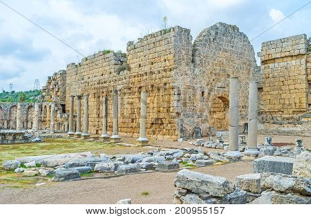 The Square Of Ancient Perge