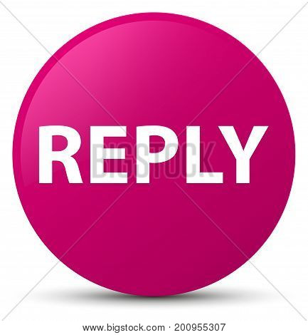 Reply Pink Round Button