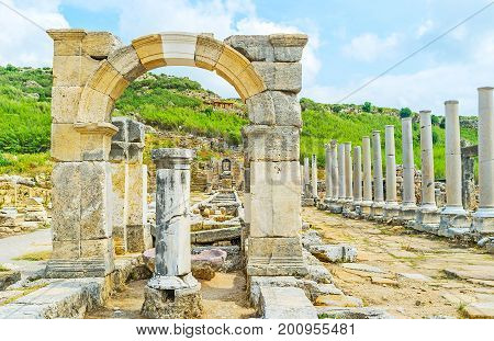 The Arch Of Apollonius In Perge