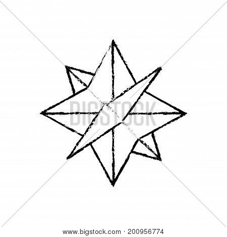 figure compass symbol to geography adventure direction vector illustration
