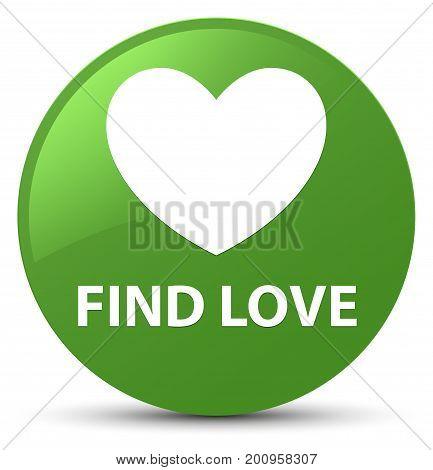 Find Love Soft Green Round Button