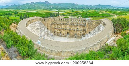 Aerial View Of Aspendos Amphitheater