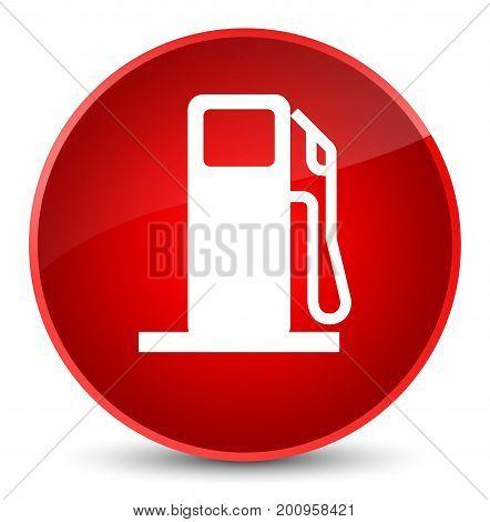 Fuel Dispenser Icon Elegant Red Round Button