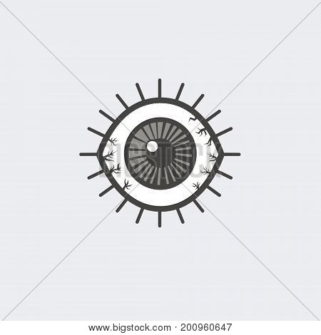 Eye icon - vector. flat illustrations for your design