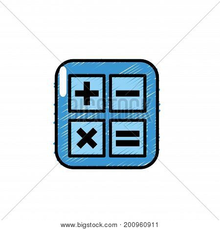 calculator technology to mathematics account report vector illustration