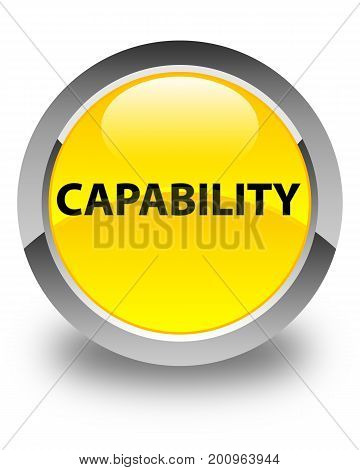 Capability Glossy Yellow Round Button