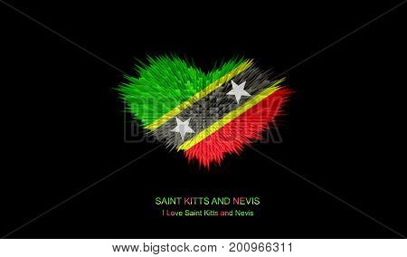 The Heart of Saint Kitts and Nevis Flag abstract background.