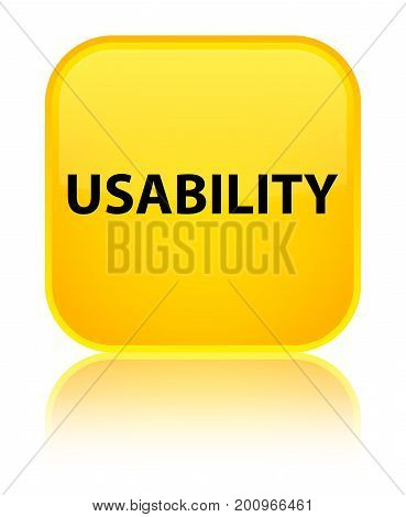 Usability Special Yellow Square Button
