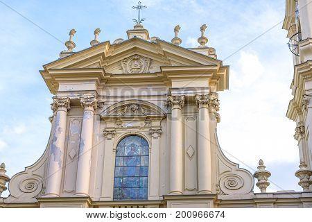 The church of Santa Margherita d'Antiochia. Santa Margherita Ligure, Italy. Daylight view.
