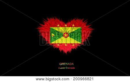 The Heart of Grenada Flag abstract background.