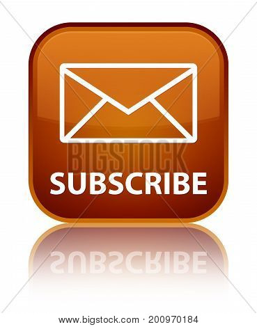Subscribe (email Icon) Special Brown Square Button
