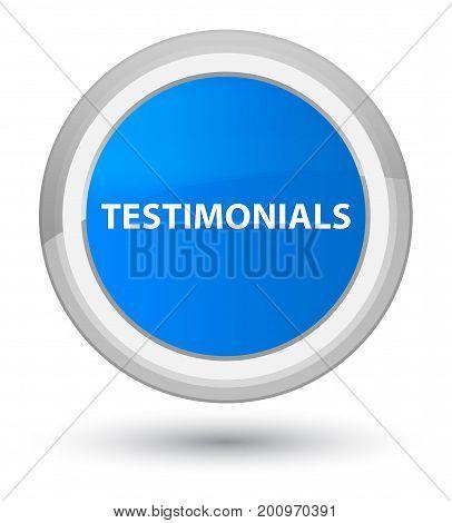 Testimonials Prime Cyan Blue Round Button