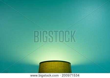 image of lamp and green background .