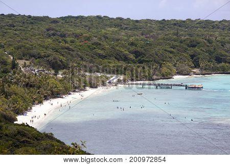 The view of Easo village beach on Lifou Island (New Caledonia).