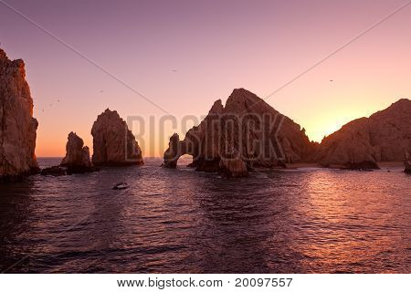The Arch at Land's End during Sunset Cabo San Lucas Mexico poster