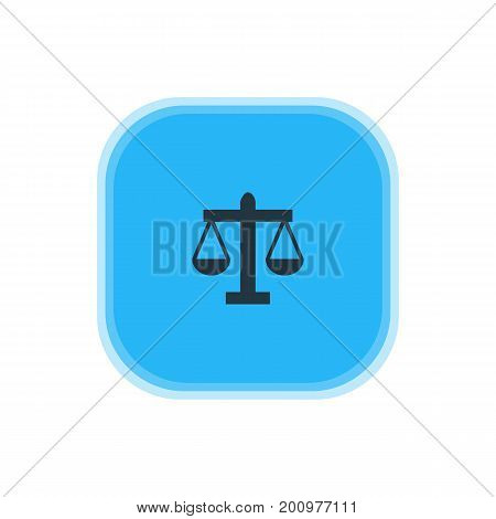 Beautiful Map Element Also Can Be Used As Scales Element.  Vector Illustration Of Law Icon.