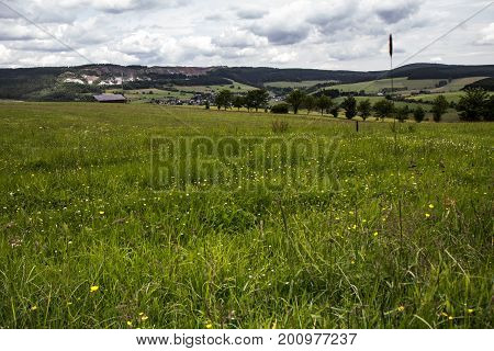 View over a field in Germany Europe