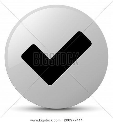 Validate Icon White Round Button