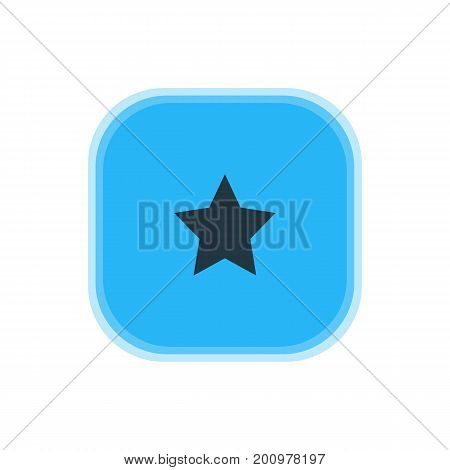 Beautiful Map Element Also Can Be Used As Bookmark Element.  Vector Illustration Of Star Icon.