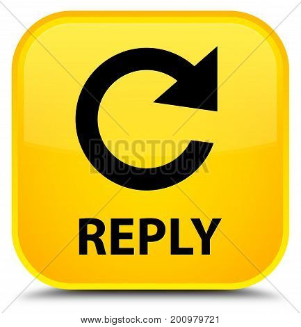 Reply (rotate Arrow Icon) Special Yellow Square Button
