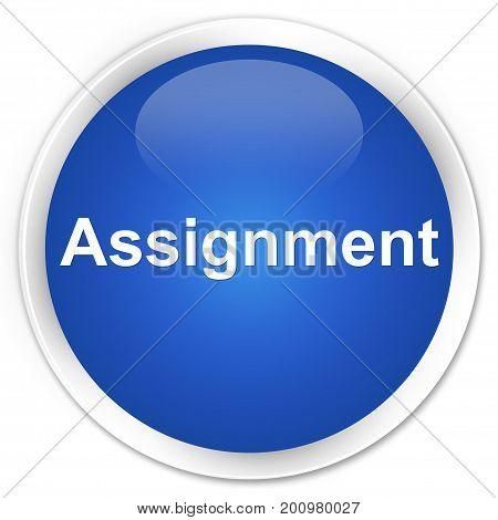 Assignment Premium Blue Round Button