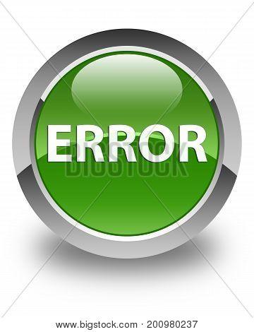 Error Glossy Soft Green Round Button
