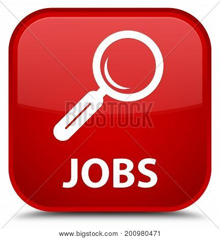 Jobs Special Red Square Button
