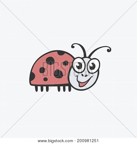 Vector icon ladybird. Flat illustration for your design