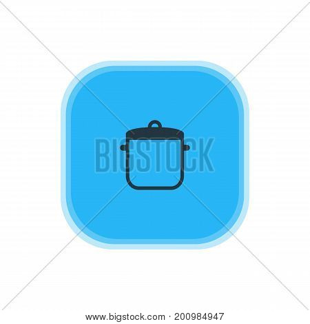 Beautiful Kitchenware Element Also Can Be Used As Soup Pan Element.  Vector Illustration Of Saucepan Icon.