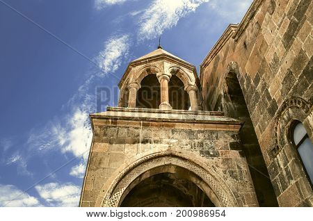 Entrance with rotunda and columns in the Church of the great Martyr St. Hripsime