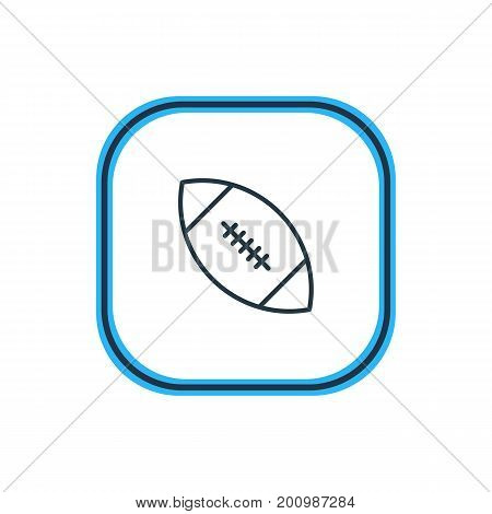 Beautiful Athletic Element Also Can Be Used As Touchdown Element.  Vector Illustration Of Rugby Outline.