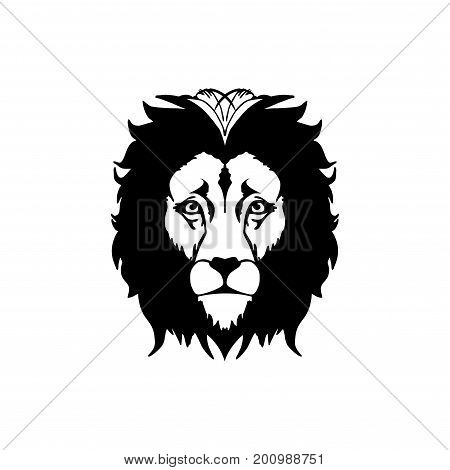 Lion head - vector sign concept illustration. Lion head logo. Wild lion head graphic illustration. Design element. Eps8,Eps10