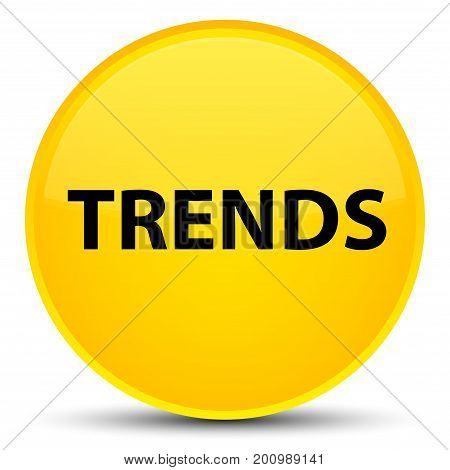 Trends Special Yellow Round Button