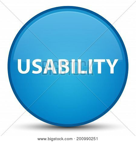 Usability Special Cyan Blue Round Button