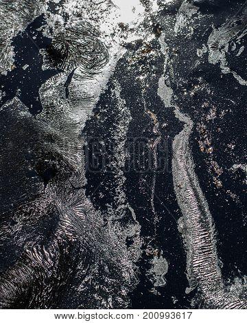 Black grunge texture background. Abstract dark grunge texture on black wall