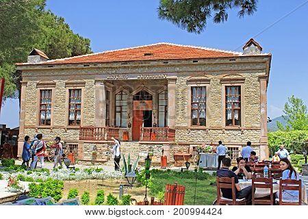 SIRINCE, TURKEY - APRIL 30, 2012: Artemis restaurant in Sirince, İzmir Province, Turkey