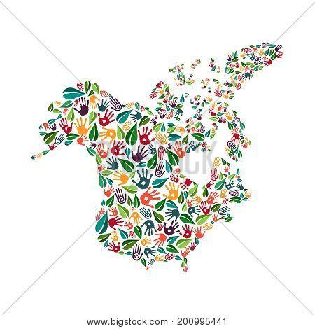 North America Hand Print Social Environment Help