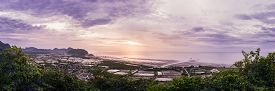 View point at the top of Khao Daeng moutain to see sunrise from Thai gulf Sam Roi Yod National Park KuiBuri Thailand