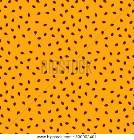 Vector Passion Fruit Background With Simple Seed