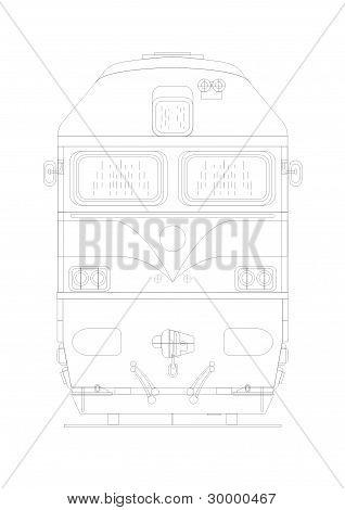 Locomotive Engine Front