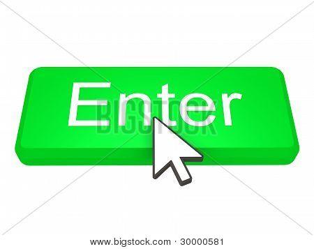Enter Button With Cursor